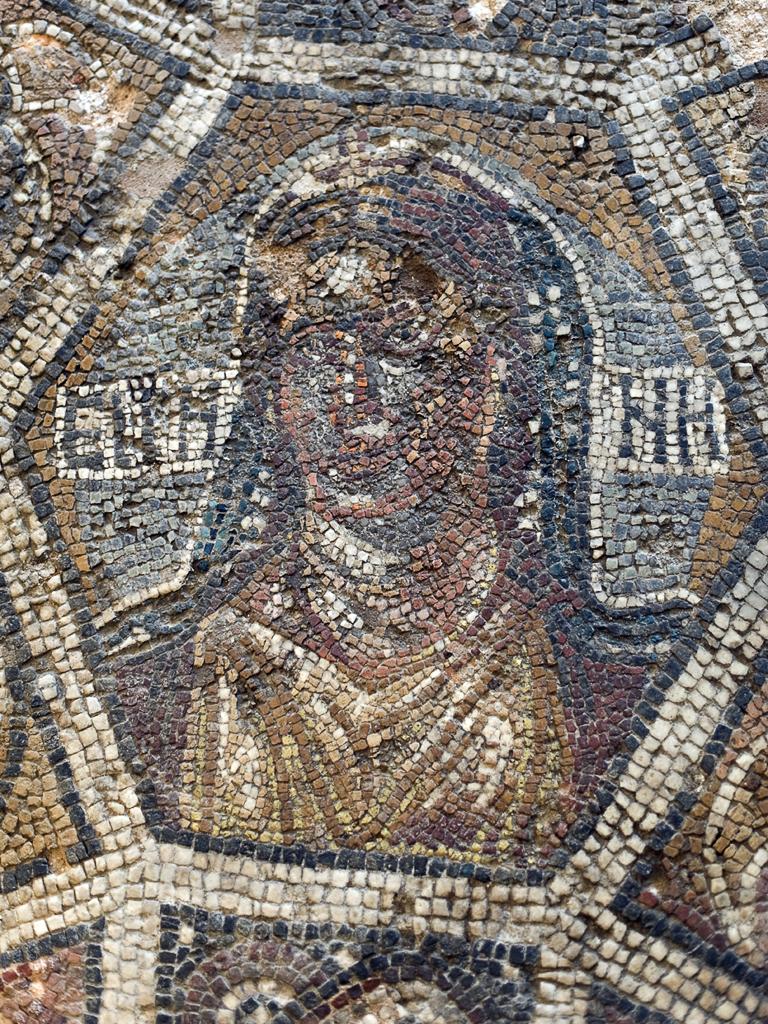 Мозаечно изображение на Ейрене, богиня на мира