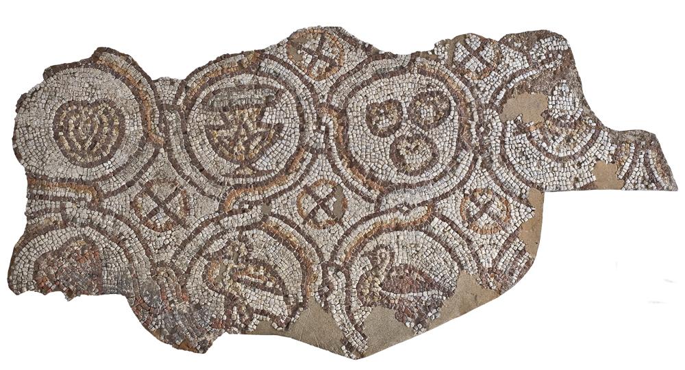 Фрагмент от подовата мозайка на Епископската базилика на Филипопол, Пловдивски Археологически музей