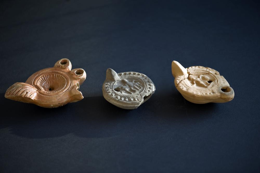 Керамични лампи за осветление от Филипополис, III-IV в., Пловдивски Археологически музей