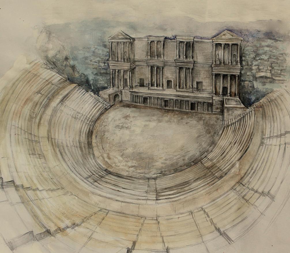 Театърът на римски Пловдив, художествена реконструкция