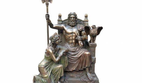 Оброчна плочка с божества-пришълци от Гърция - Зевс и Хера. Пловдивски Археологически музей